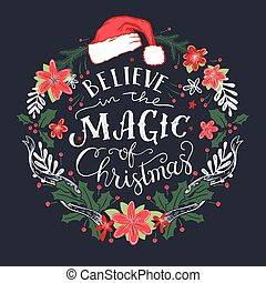 Believe in the Magic of Christmas wreath - Believe in the ...