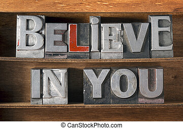 believe in you tray