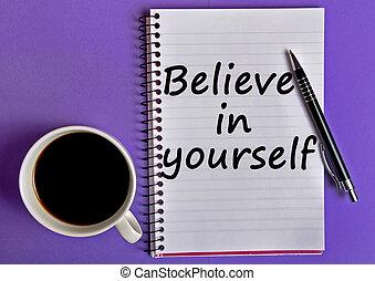 Believe in yourself words