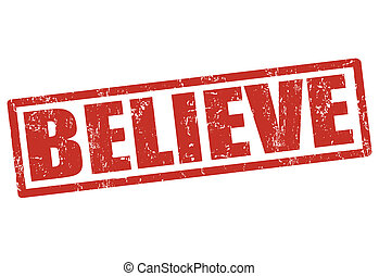 Believe stamp