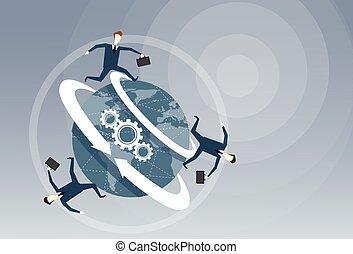 beliggende, hjul, begreb, gruppe, folk branche, tænkning, ideer, kreative, proces, summemøde, afbøjning, cog, jord, indskydelsen