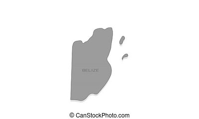 Belize animated map with alpha channel. - Stylish and modern...