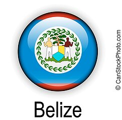 belize ball flag - belize official flag, button ball