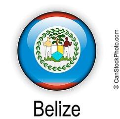 belize ball flag - belize official flag, button ball