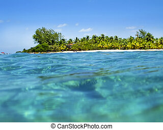 Belize Coast and turquoise ocean