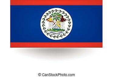 Belize Flag - Official flag of Belize.