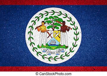 Belize flag on paper background