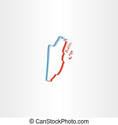belize map icon vector