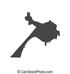 Belize map silhouette illustration