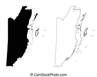 Belize outline map