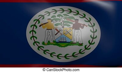 belize strong wind flag