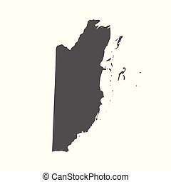 Belize vector map. Black icon on white background.