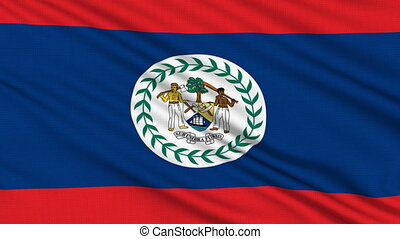Belizean flag, with real structure of a fabric