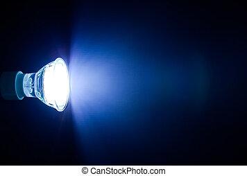 belka, poprowadzony, lampa