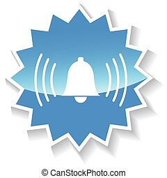 Bell blue icon
