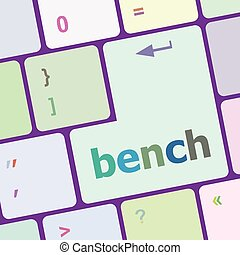 bell button on computer pc keyboard key vector illustration