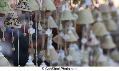 Bell clay souvenir gift at the fair