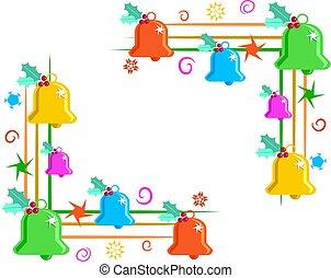 bell corner borders - Christmas bells page corner borders