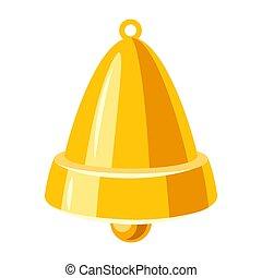 bell., dourado, ilustração
