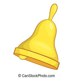 Bell icon, cartoon style - Bell icon. Cartoon illustration...