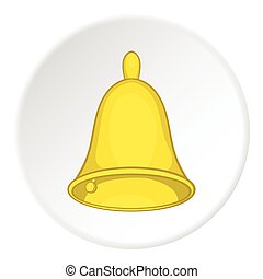 Bell icon, cartoon style