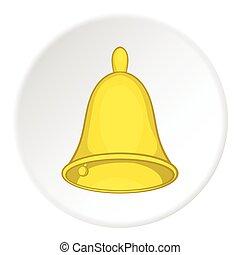 Bell icon, cartoon style