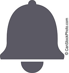 Bell icon in trendy flat style isolated on white background