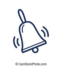Bell icon on white background, vector illustration