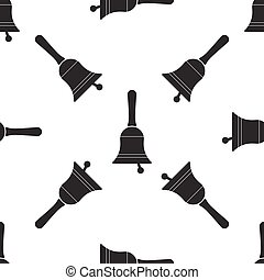 Bell icon seamless pattern on white background. Vector Illustration