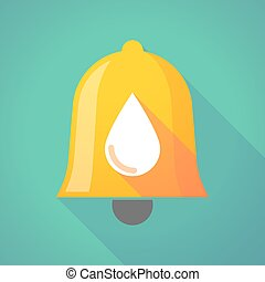 Bell icon with a blood drop