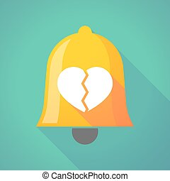 Bell icon with a broken heart