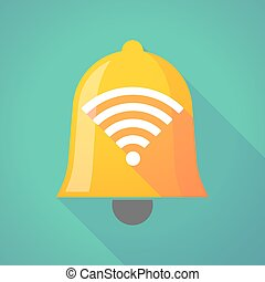Bell icon with a radio signal sign