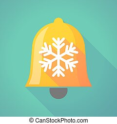 Bell icon with a snow flake