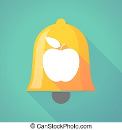 Bell icon with an apple