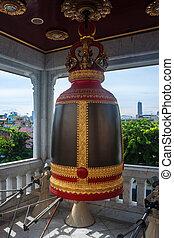 Bell in Wat Traimit Temple, Bangkok, Thailand