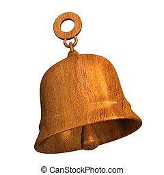 bell in wood (3D)