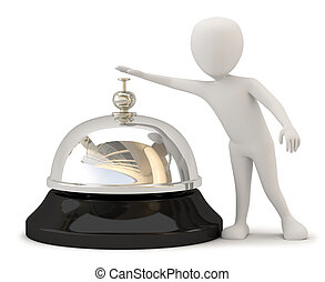 bell., leute, hotel, -, klein, 3d