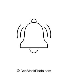 Bell line icon vector. Modern flat
