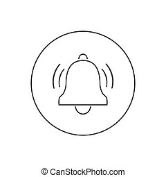 Bell line icon vector. Modern in flat style