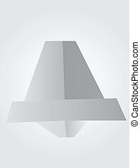 Bell made by origami technique
