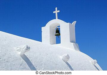 Bell on a church, Oia, Santorini, Greece
