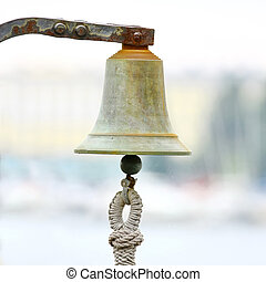 Bell on sailing ship
