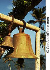 Bell on the sea coast