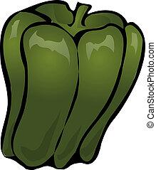 Bell pepper - Sketch ofa bell pepper. Hand-drawn lineart...