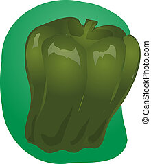 Bell pepper illustration