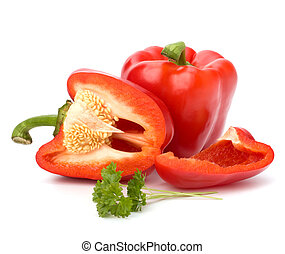 bell pepper isolated on white background
