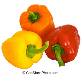 Bell peppers 1 - A trio of bell peppers