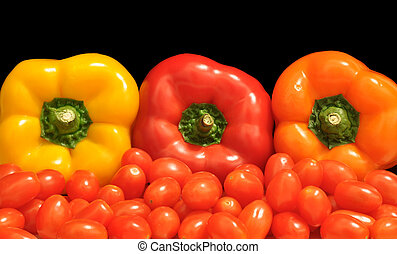 Bell peppers and tomatoes