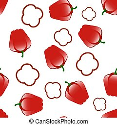Bell Red Peppers Seamless Pattern