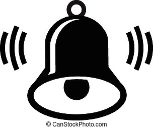 bell ringing icon vector illustration isolated